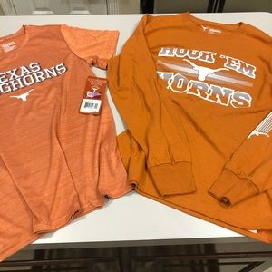 TWO Boys Long Horn Fan Shirts Large BOTH NWT!